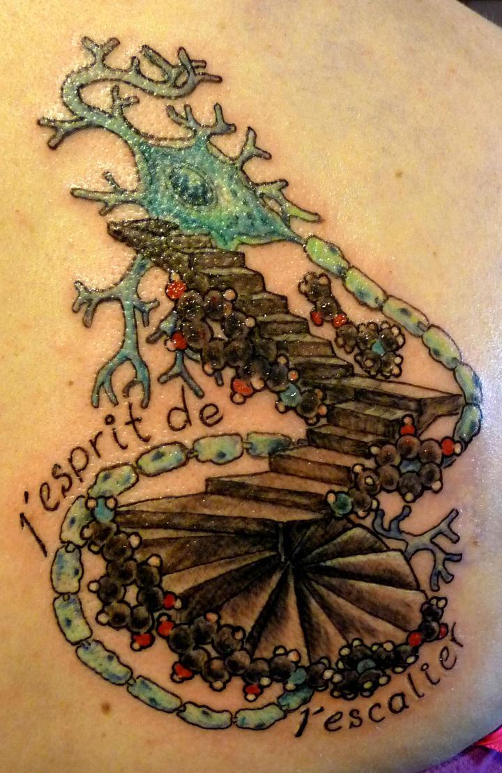 Motor neuron tattoo
