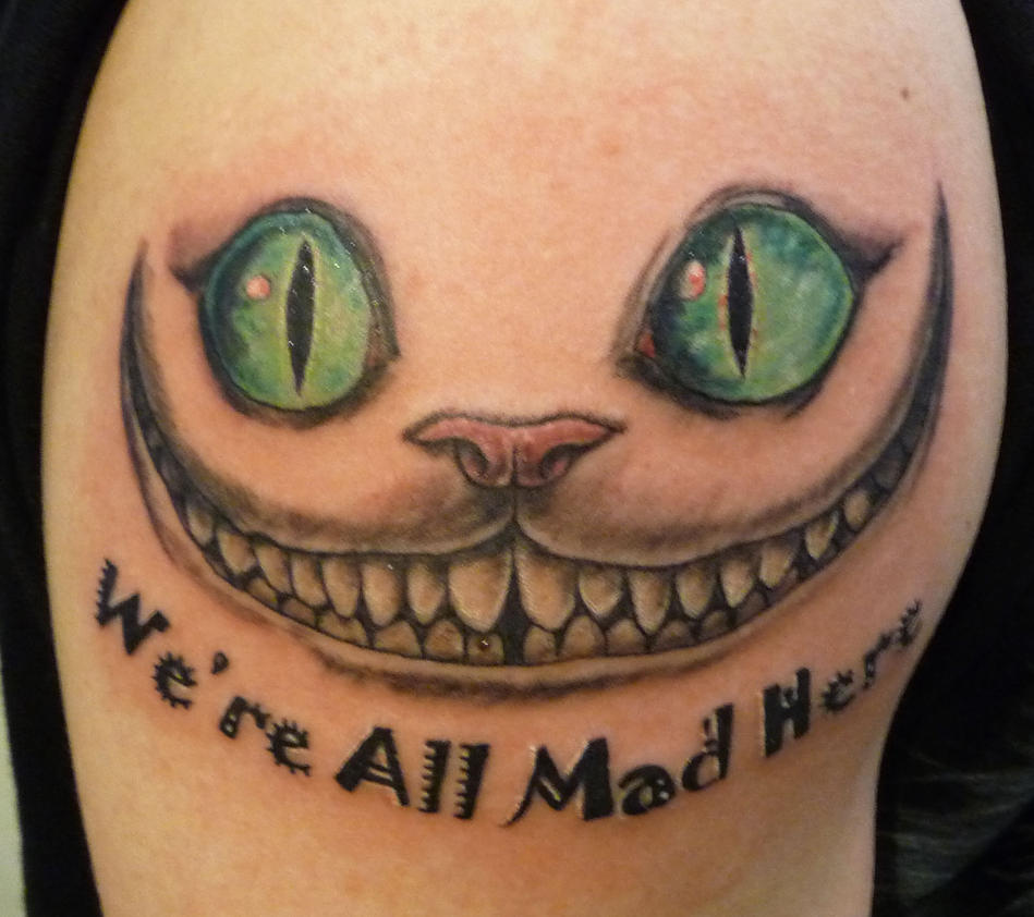 cheshire cat tattoo by hoviemon on deviantart. Black Bedroom Furniture Sets. Home Design Ideas