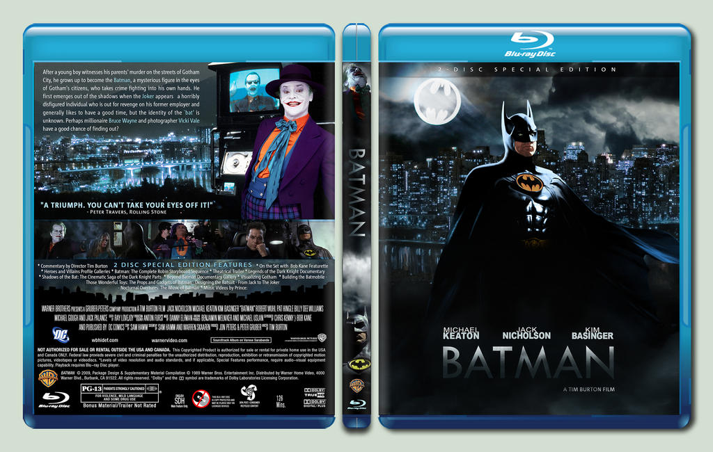 batman custom blu ray cover by rookerdesigns on deviantart. Black Bedroom Furniture Sets. Home Design Ideas