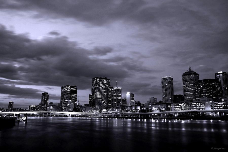 Brisbane City at Dusk wallpaper