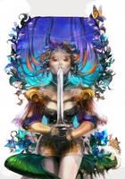 short sword girl by amatoy