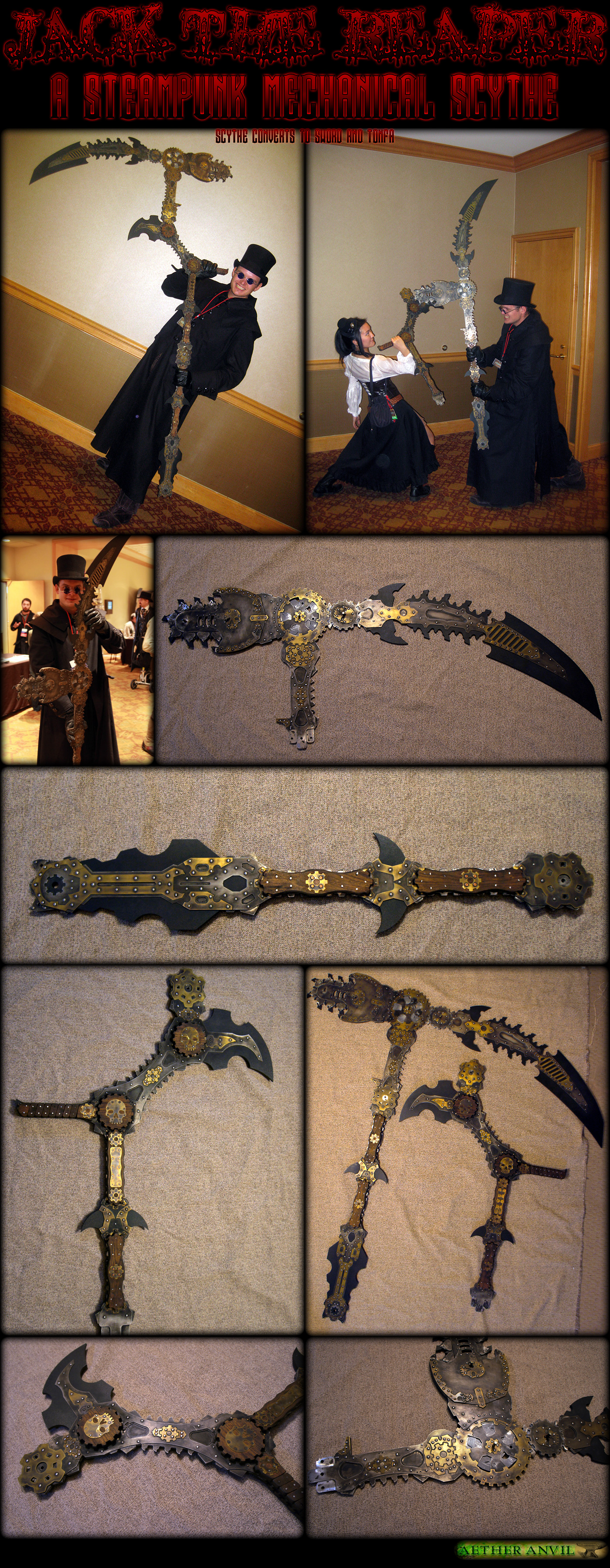 Steampunk Reaper Scythe by AetherAnvil