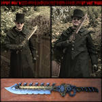 Steampunk Bowie Knife - Modular Sword