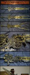 Eldritch Mechanical Sword (Gear driven Steampunk) by AetherAnvil