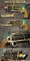 Skeletal Trench Gun - Steampunk Raygun