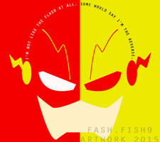 The Flash Minimalist Poster(CW) by fashfish9