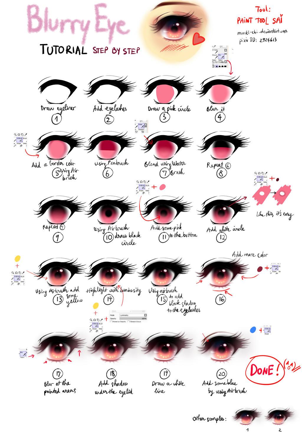 Blurry Eye tutorial
