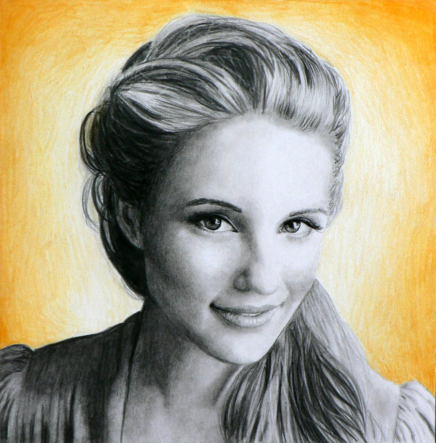 Dianna Agron drawing
