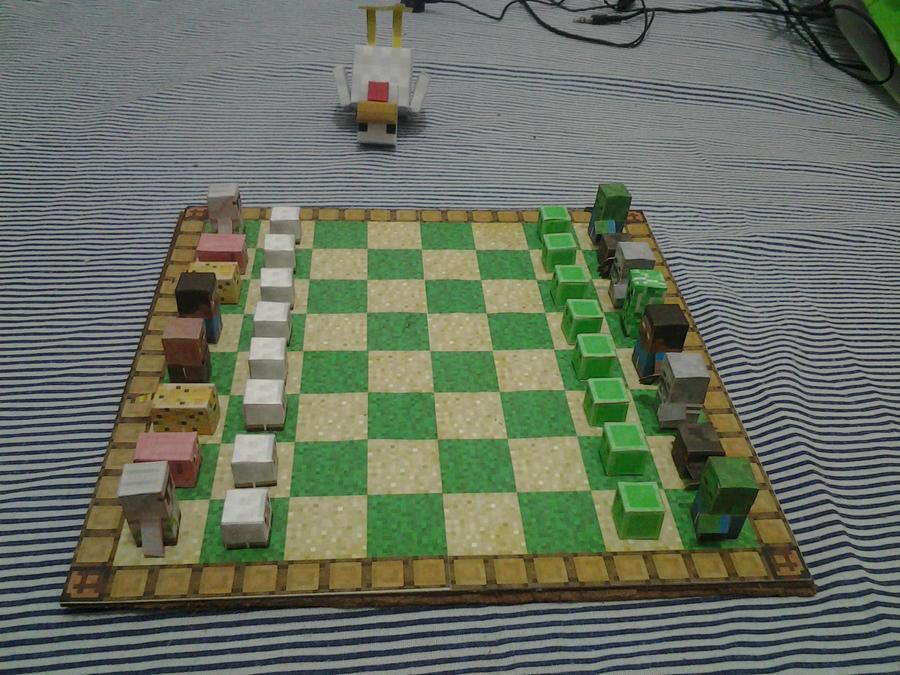Minecraft Paper Chess Gadgets Widgets Blog