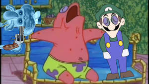 Patrick and Weegee annoying Squidward