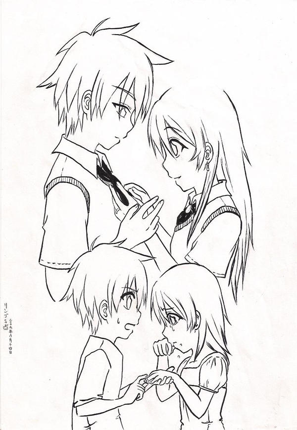 Romantic Anime Coloring Pages