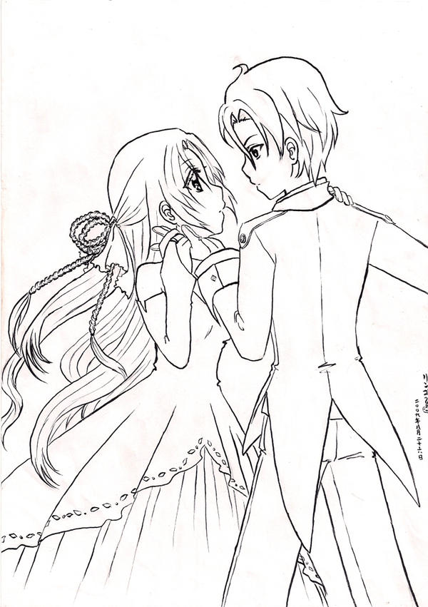 Unknown Couple - Lineart by magamiyuuri on DeviantArt