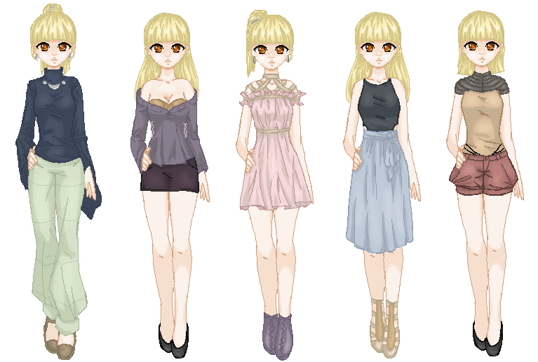 All Outfits Ria by MauiCatgirl
