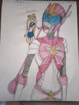 Sailor Moon and Sailor Cybertron