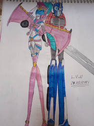 Optimus Prime and Sailor Cybertron by LordVaderNihilus