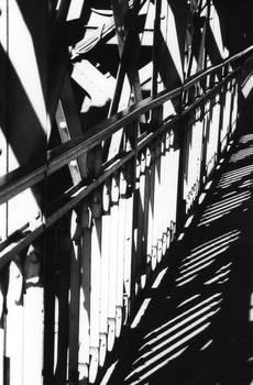 jeu de lumieres sur le pont