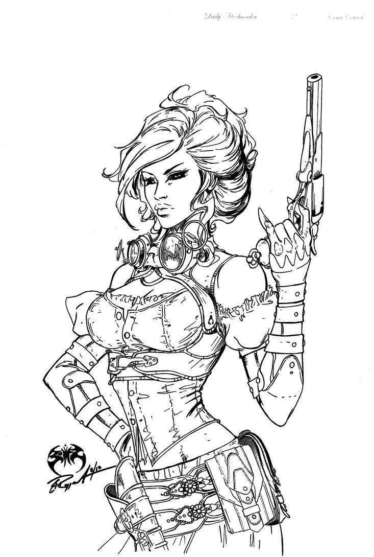 Lady Mechanika inks 2 by BRuppert