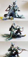 Overwatch:Ana Snow Owl sculpture