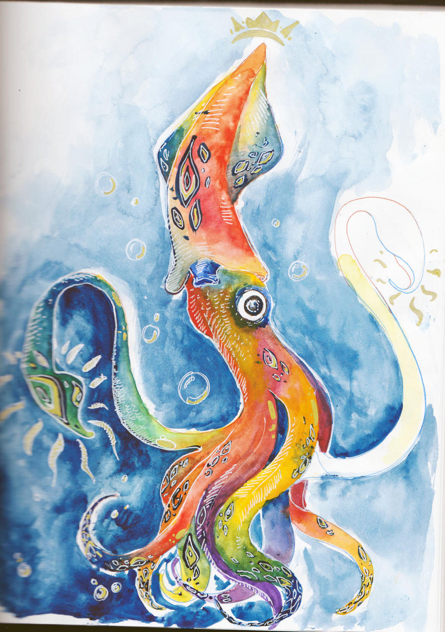 Rainbow Squid By CJSwinging On DeviantArt