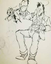 Bojack Doodles by CJSwinging