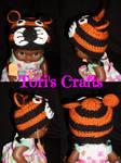 Crochet Newborn Tiger Hat