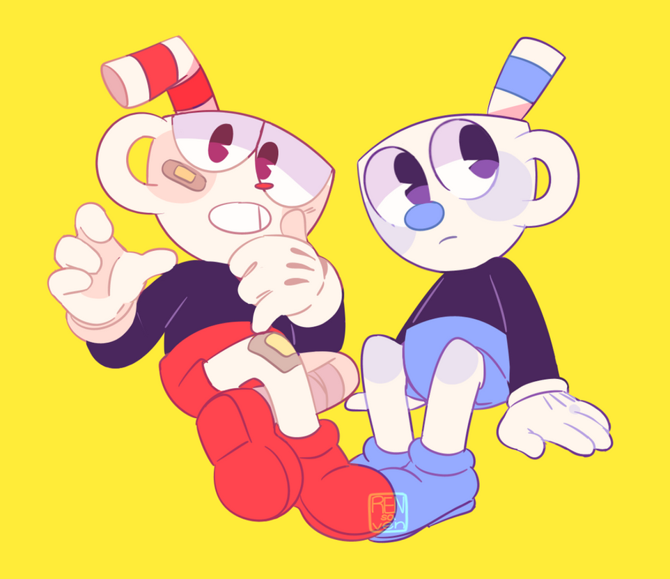 cuphead and mugman by rensaven on deviantart