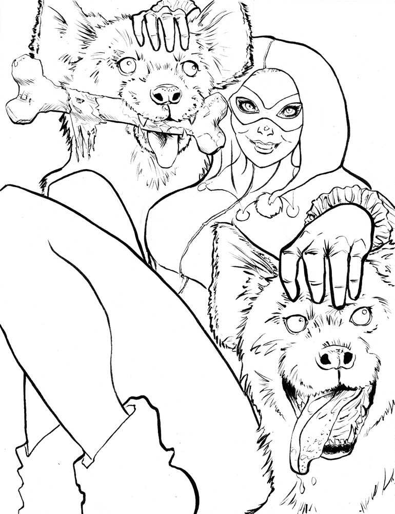 Ivy Harley Quinn Coloring Book Coloring Pages