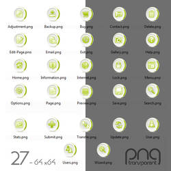 Free 27 Green icon set