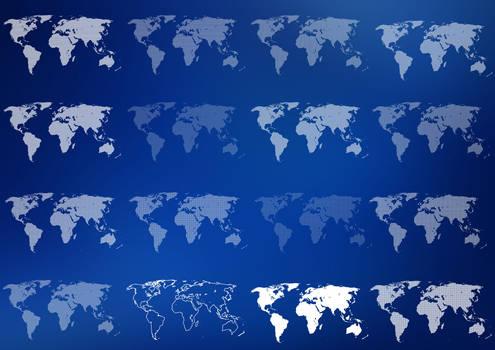 16 World Map Pixelated