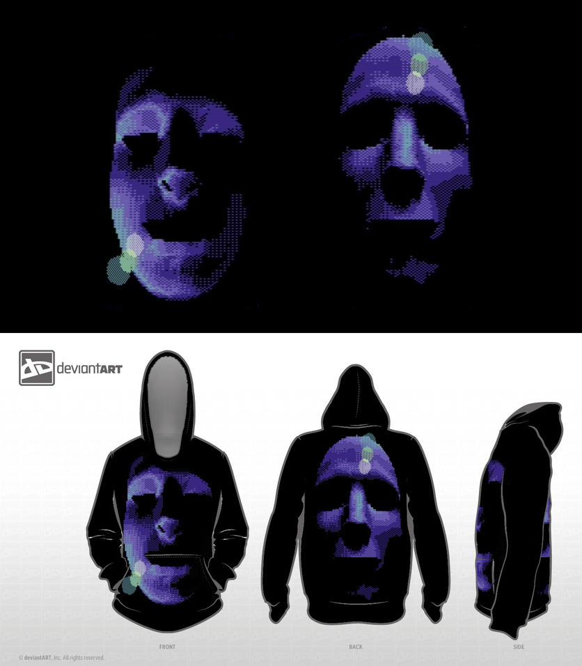[8bit] Blue Faces [Black_Version] by MaestroAmN