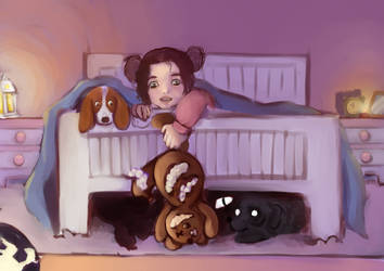 Used to play with the monsters under my bed by Jenneefer