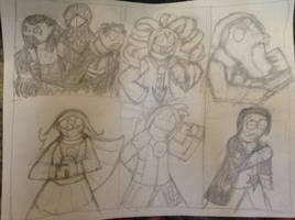 I draw some characters with some libritits taken