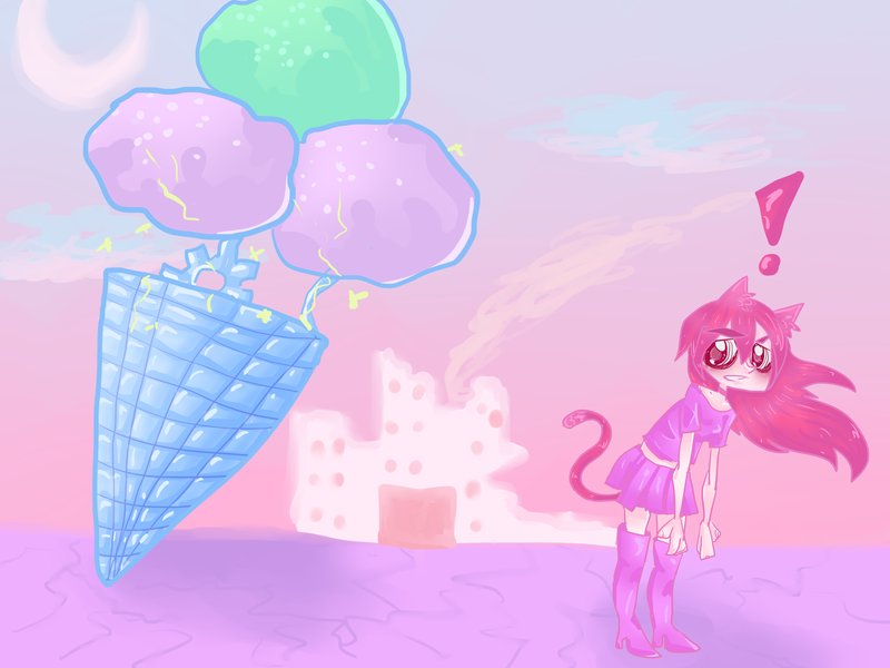 WTF THE ICE CREAM by octopoida