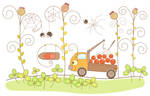 Small truck with ashberry