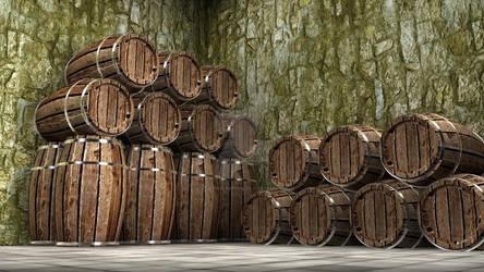 3D Rendered Barrels
