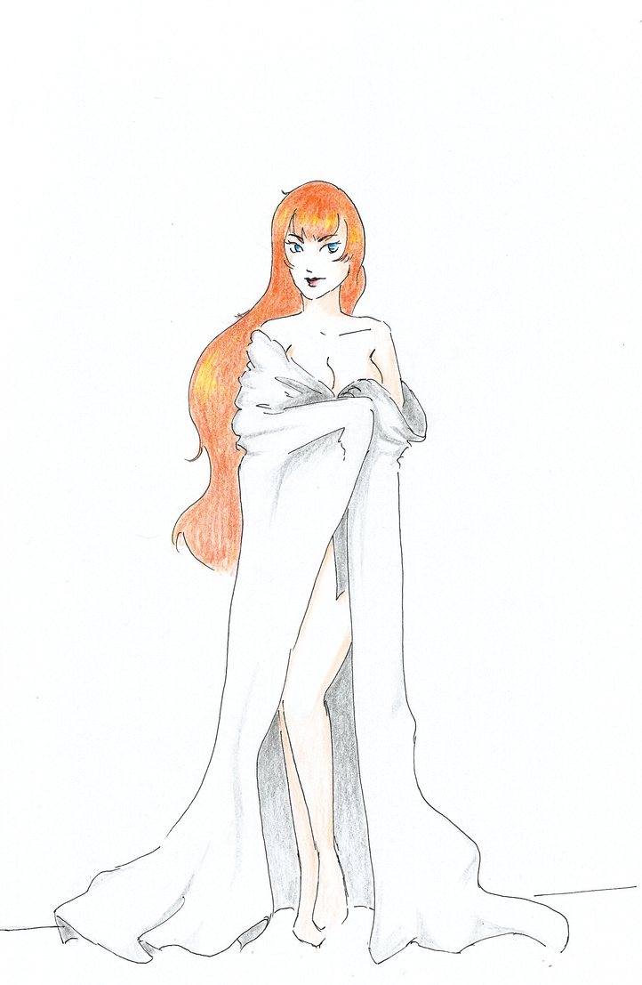 Cecily Earl _ White Drapery by YERDUA
