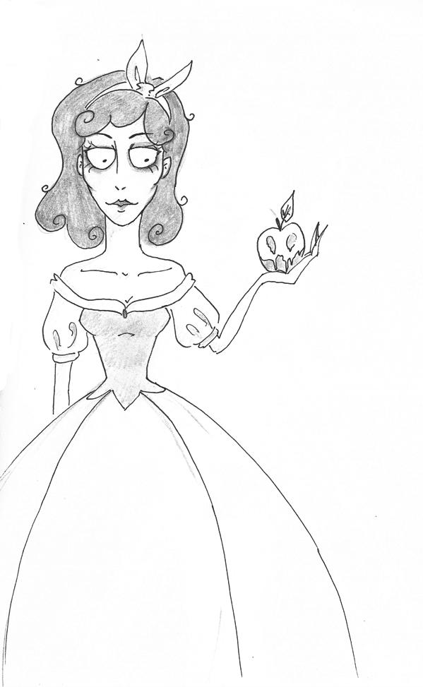 Tim Burton Style: Snow White by YERDUA