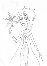 Tim Burton Style: Elsa by YERDUA