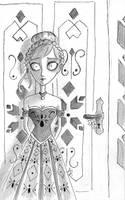 Tim Burton Style: Anna by YERDUA