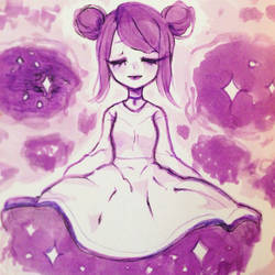 Purple cosmos by Pemiin