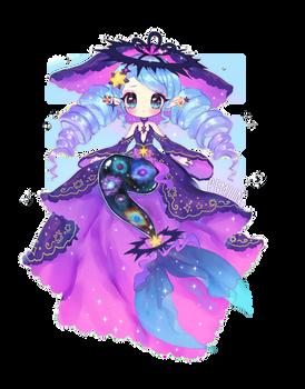 Space Mermaid   Fairy Vial