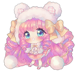 Pink fluffy cloud of Love by Pemiin