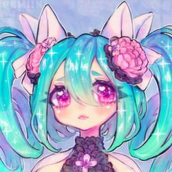 ..: Bouncy teal curls :..