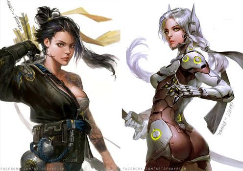 sisters hanzo and Genji