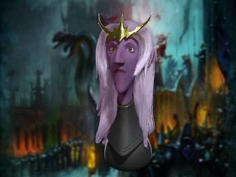 Dark Elf from Warhammer - 3D fanart in Blender