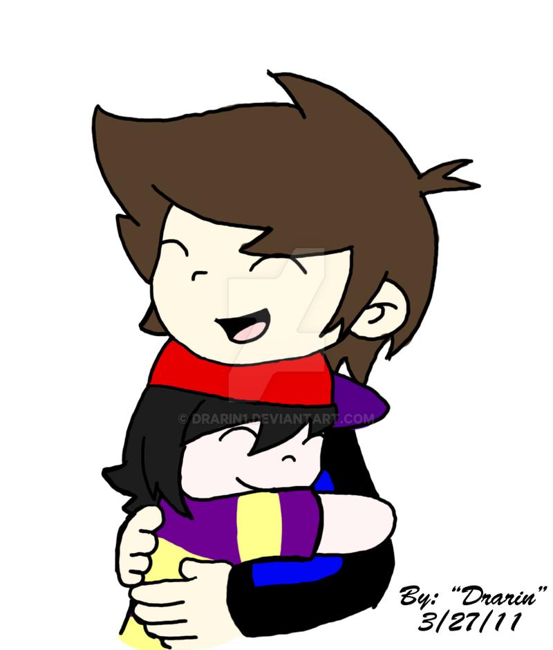 SmashX Art Trade - Hugs by Drarin1