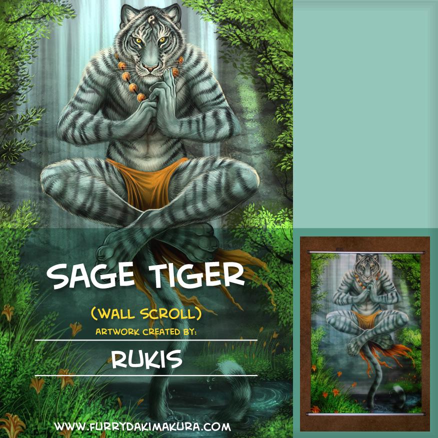 Sage Tiger Wall Scroll by Rukis by furrydakimakura