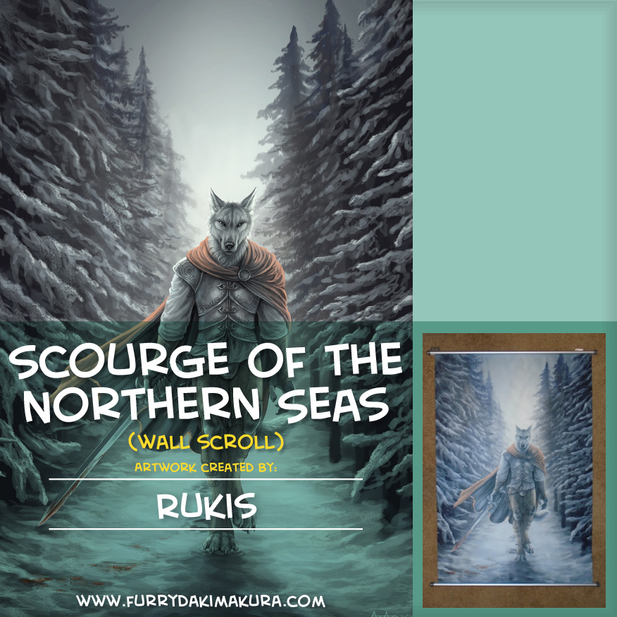 Scourge of the Northern Seas Wall Scroll by Rukis by furrydakimakura