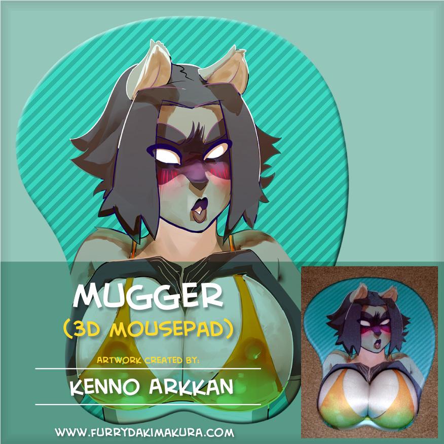 Mugger 3D Mousepad by furrydakimakura