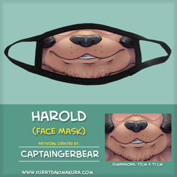 Harold Coach Grifter Face Mask by CaptainGerBear